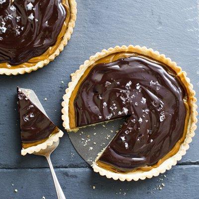 Tarta de Dulce de Leche con Sal y Chocolate