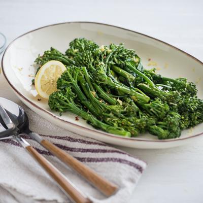 Pan-Roasted Lemon Broccolini