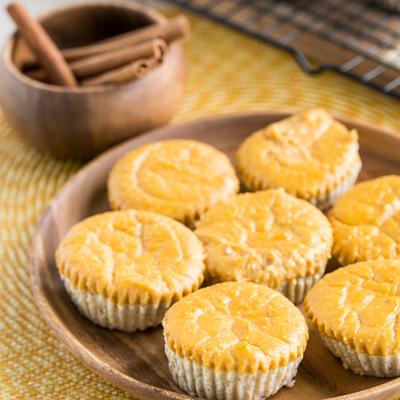 Cheesecakes Individuales de Calabaza Arremolinados