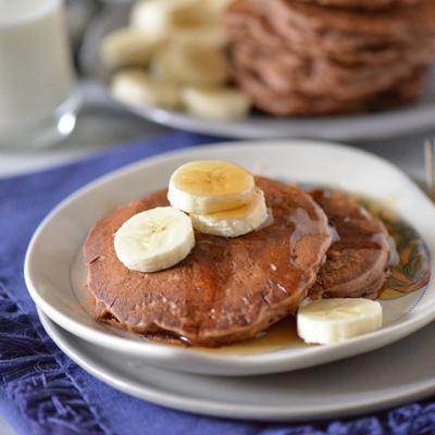Chocolate Oatmeal Pancakes