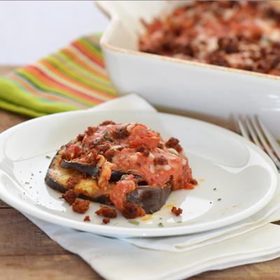 Eggplant Chorizo Bake