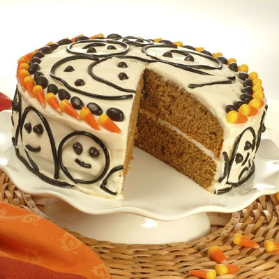 Pumpkin Spice Ghost Cake