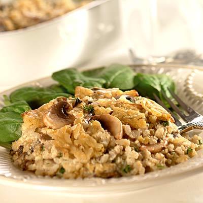 Creamy Rice & Mushroom Bake