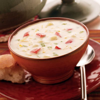 Cream Soup with Potatoes and Cheese