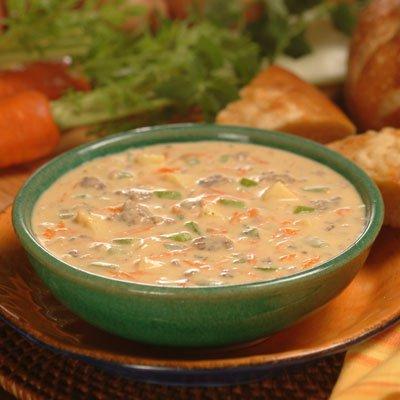 Sopa de Hamburguesa con Queso