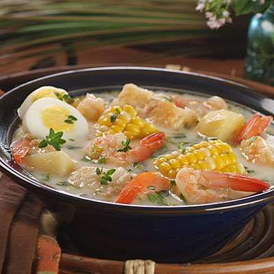 Striped Bass and Shrimp Chowder