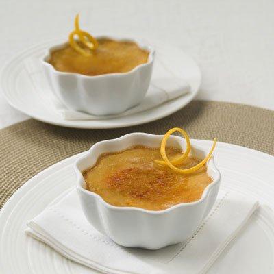 Dulce de Leche Estilo Crème Brûlee (Crema Quemada) con Azúcar Quemada Sabor Naranja
