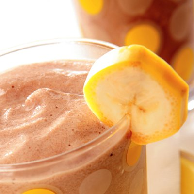 Choco-Peanut Butter & Banana Smoothie