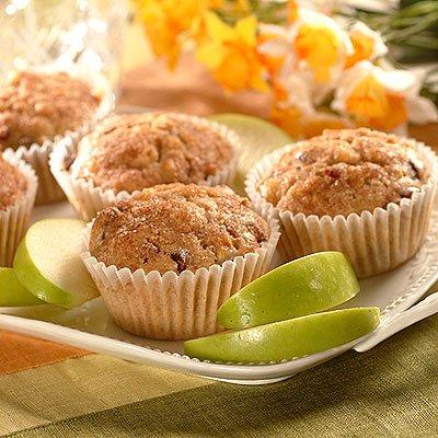 Muffins Integrales de Manzana-Arándano