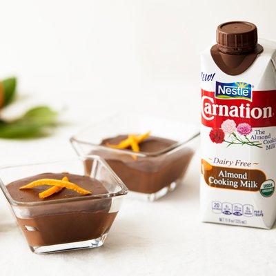 Pudín de Chocolate Oscuro, Naranja y Espresso