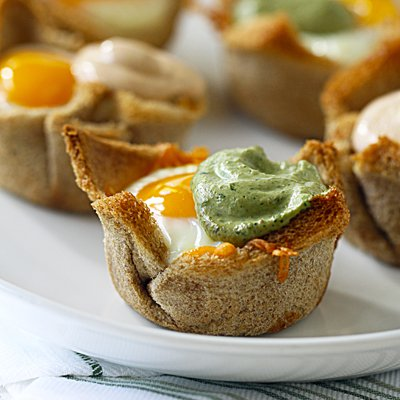 Egg, Ham & Cheese Brunch Nests