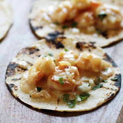 Tacos de Camarones Cremosos