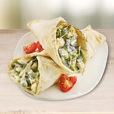 Tacos en Pita de Pollo y Poblano