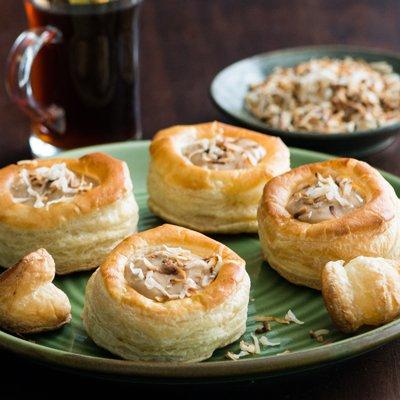 Coconut and Custard Volovanes