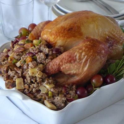 Sweet and Savory Stuffed Turkey