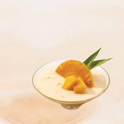 Mousse de Piña y Queso Crema
