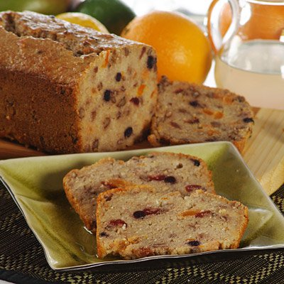 Fruited Grits Dessert Bread with Orange Syrup
