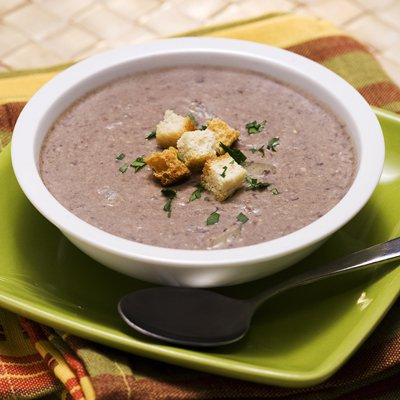 Rustic Black Bean and Almond Soup