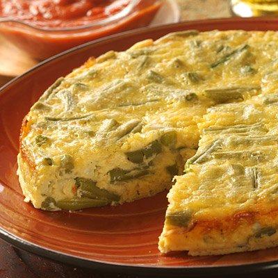 Green Bean Frittata with Gouda & Parmesan Cheeses