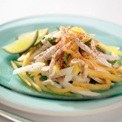 Jicama, Mango & Pineapple Salad with Chicken