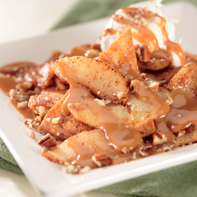 Apple Chilaquiles with Dulce de Leche