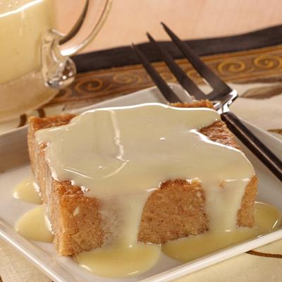 Honduran Yucca Cake with Sweet Milk Sauce