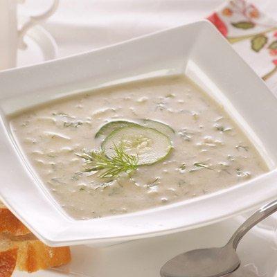 Chilled Cucumber & Leek Soup