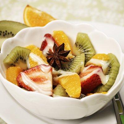 Anise Fruit Salad with La Lechera Drizzle