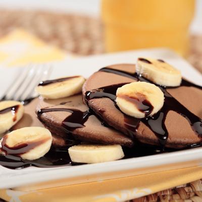 Hot Cakes de Abuelita y Plátano