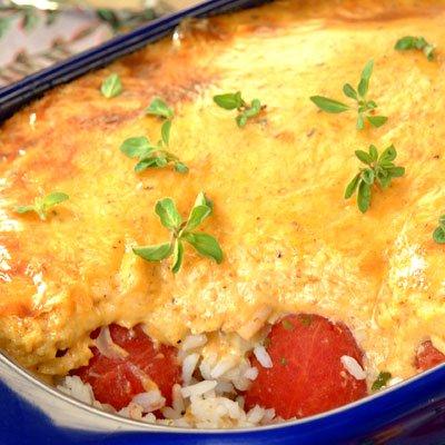 Cheesy Tuna and Rice Dish