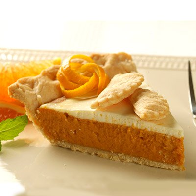 Sour Cream Orange Pumpkin Pie