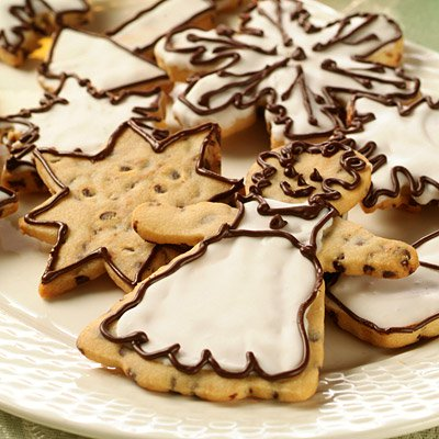 Chocolate Mini Chip Holiday Cookies