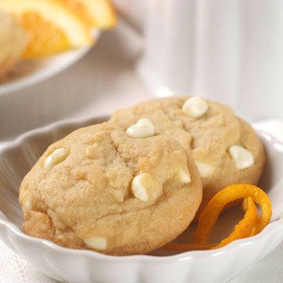 White Chip Orange Cookies