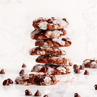 Chocolate Crinkle-Top Cookies