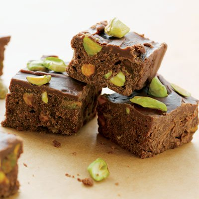 Really Yummy Dark Chocolate Fudge with Pistachios