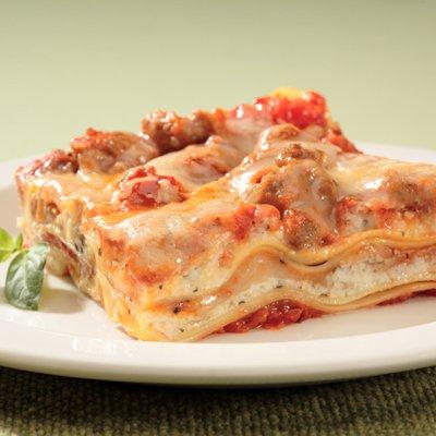 Pumpkin Sausage Lasagna