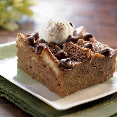 Chocolate Shamrock Bread Pudding