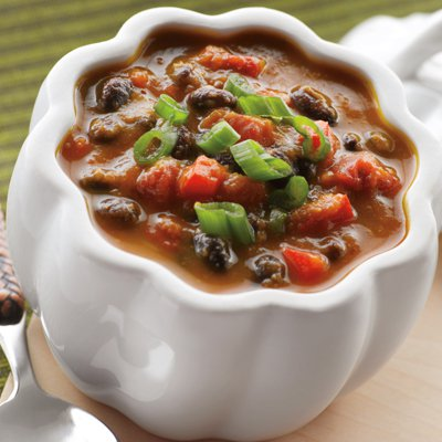 Vegged-Out Pumpkin & Black Bean Soup