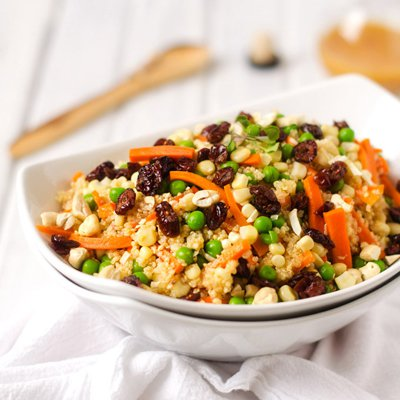 Quinoa Salad With Spicy Pumpkin Vinaigrette