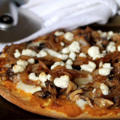Pumpkin, Mushroom & Caramelized Onion Pizza