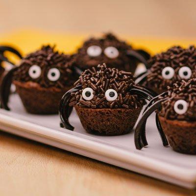 Mini Spider Brownies