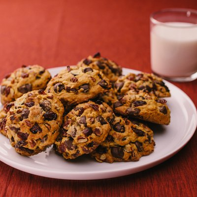 Pumpkin Dark Chocolate Cranberry Cookies