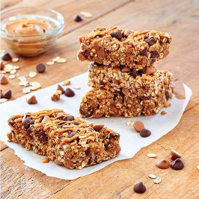 No-Bake Peanut Butter Chocolate Oat Bars