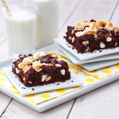Triple Chip Rocky Road Brownies