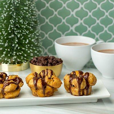Eggnog Monkey Bread Muffins
