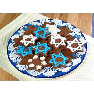 Star Of David Chocolate Cookies