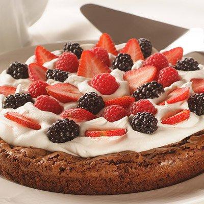 Summer Berry Brownie Torte