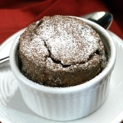 Individual Chocolate Espresso Soufflés