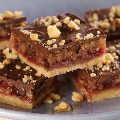 Chocolate Walnut Jam Bars