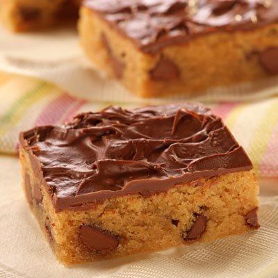 Barras de chocolate y maní